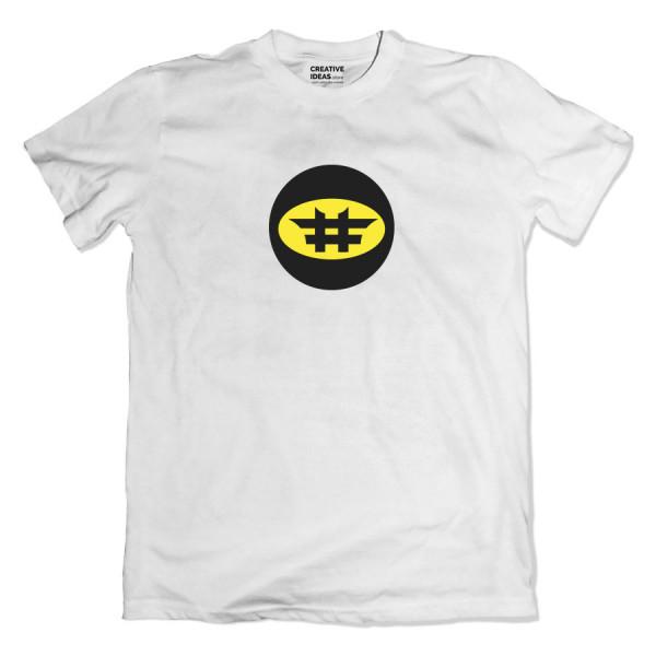 Hashtag Batman White Tshirt