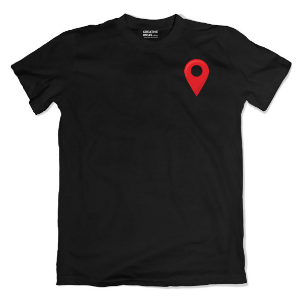 Location Pinmark Black Tshirt