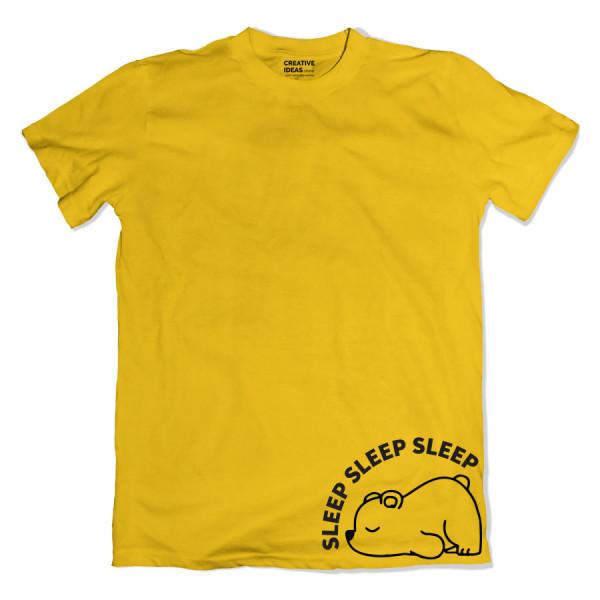 Sleeping Panda Yellow Tshirt