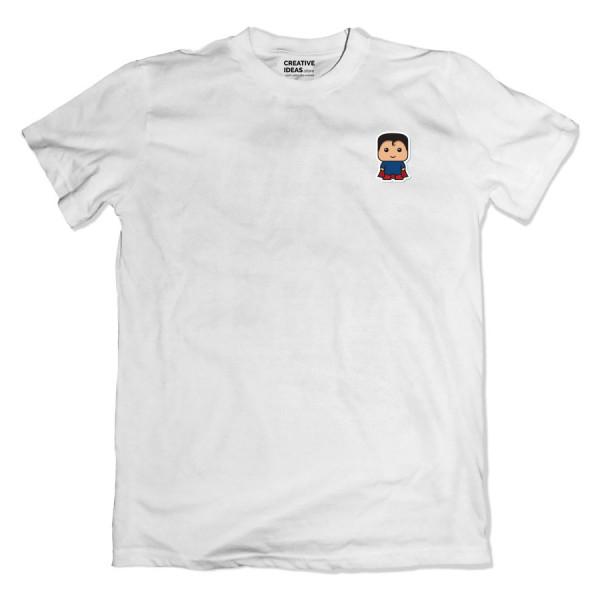 Superman Pocket  White Tshirt