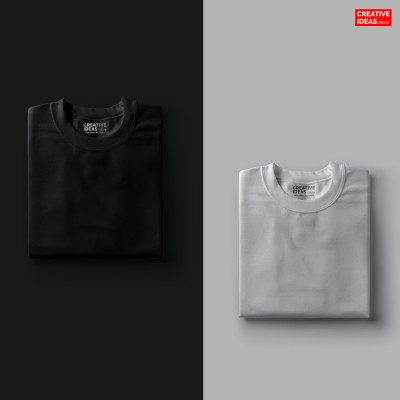 Pack Of 2 Solid T-Shirts Melange Grey and Black