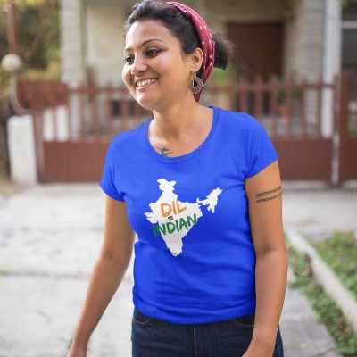 Dil se Indian - Independence Day Tshirt Blue