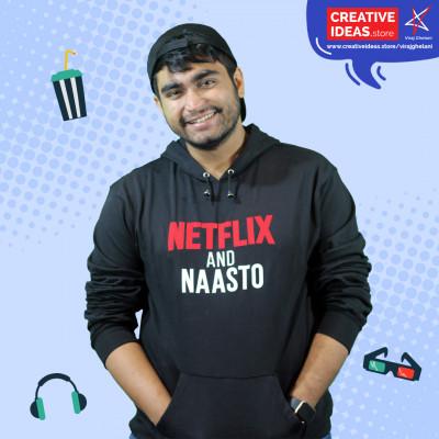 Official Netflix and Naasto Black Hoodie by Viraj Ghelani - Creative Ideas