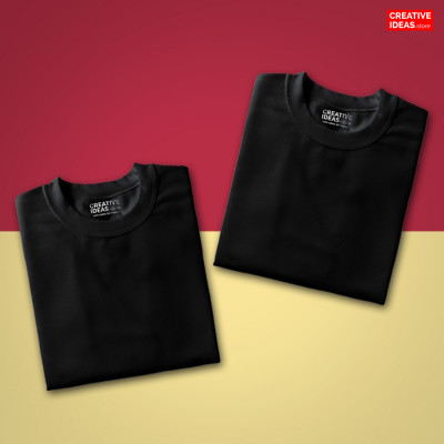 Pack Of 2 Solid Black T-Shirts