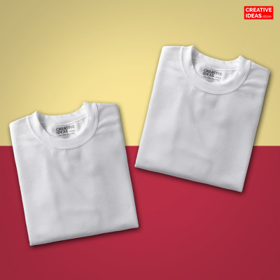 Pack Of 2 Solid White T-Shirts