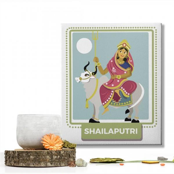 Shailaputri Devi : Navratri Special Mataji Canvas Frame