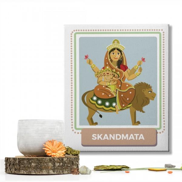 Skandmata Devi : Navratri Special Mataji Canvas Frame