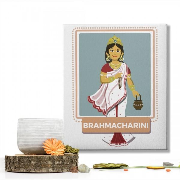 Brahmacharini Devi : Navratri Special Mataji Canvas Frame
