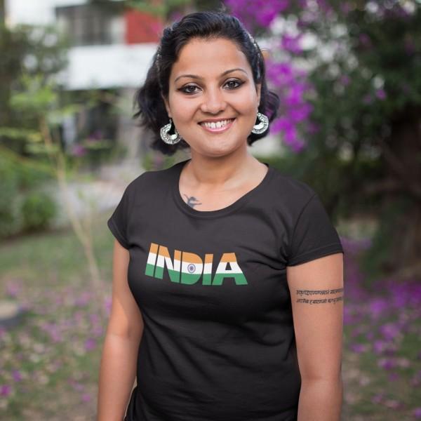 India India - Independence Day Tshirt Black