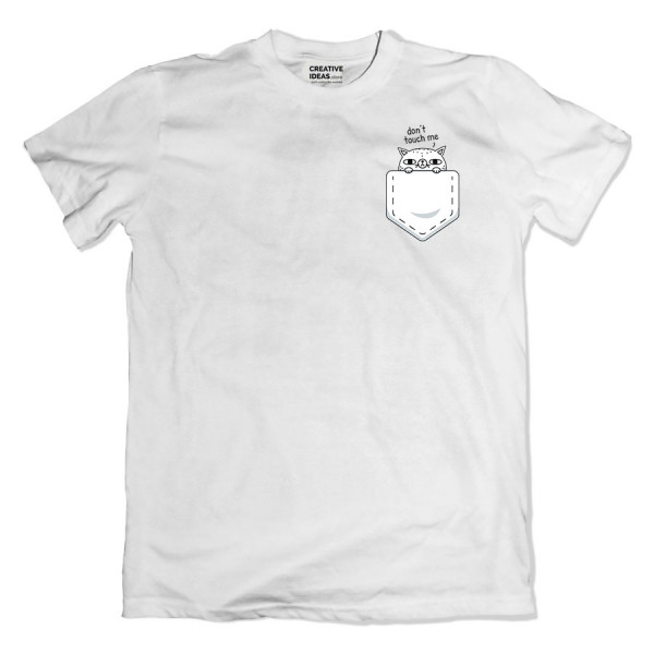 Cat Don't Touch Me White Tshirt