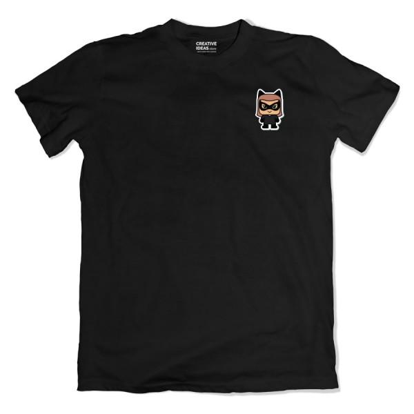 Catwoman Pocket Black Tshirt