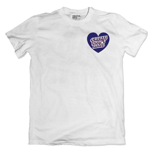 Create Don't Hate White Tshirt