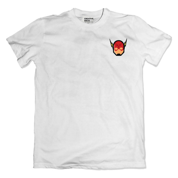 Flash Mask Pocket White Tshirt