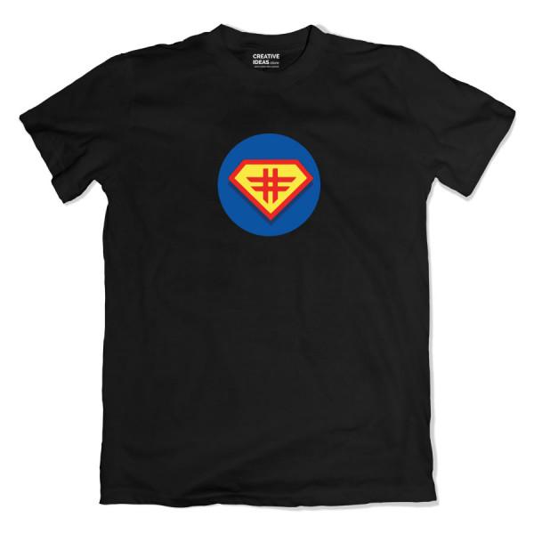 Hashtag Superman Black Tshirt