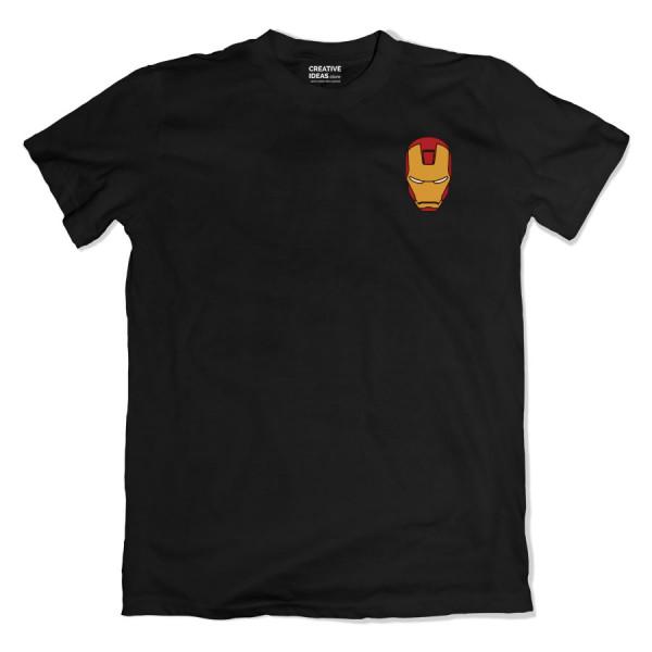 Iroman Mask Pocket Black Tshirt