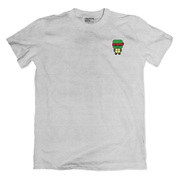Ninja Turtle Raphael Pocket Grey Tshirt