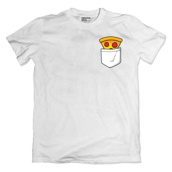 Pizza White Tshirt