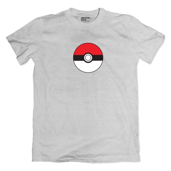 Pokeball Grey Tshirt