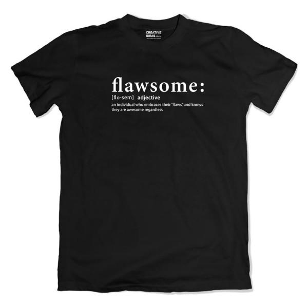 Flawsome Black Tshirt