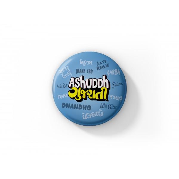 Ashuddh Gujarati Fridge Magnet