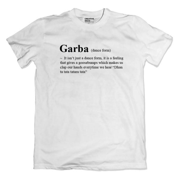 Garba Feeling White Tshirt