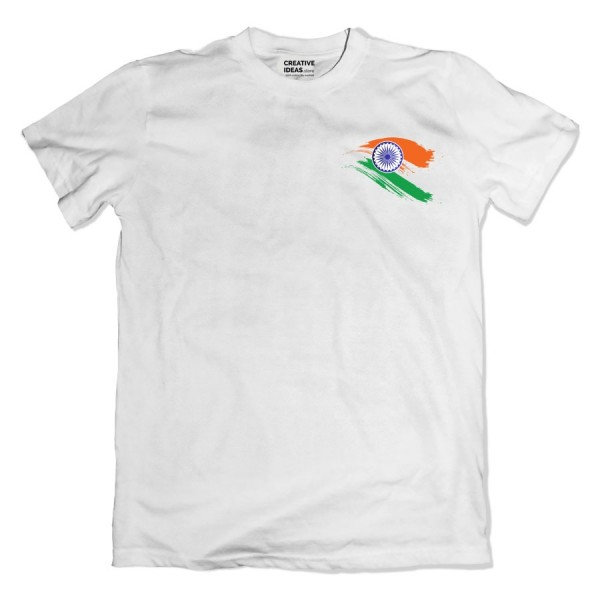 India Flag Independence Day Tshirt White