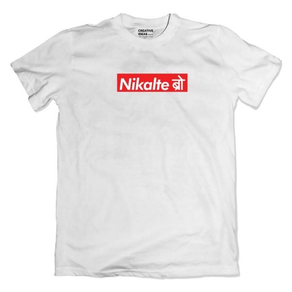 Nikalte Bro Mawali White Tshirt