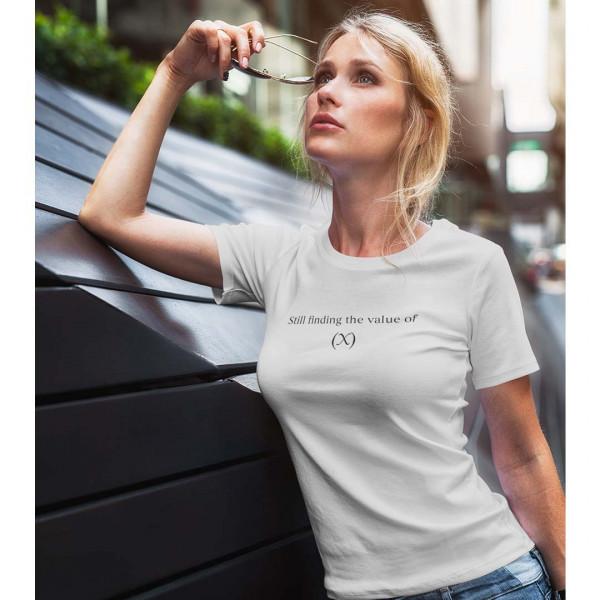 Still Finding the value of X Grey Tshirt