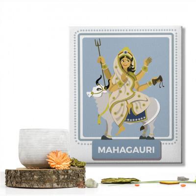 Mahagauri Devi : Navratri Special Mataji Canvas Frame