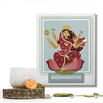 Siddhidatri Devi : Navratri Special Mataji Canvas Frame