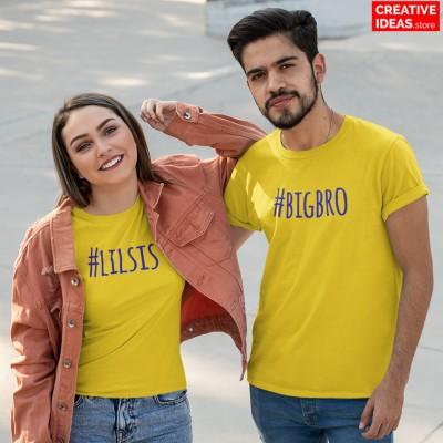 Big Bro Lil Sis Tshirt Yellow