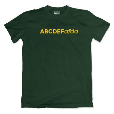 ABCDEFafda Green Tshirt