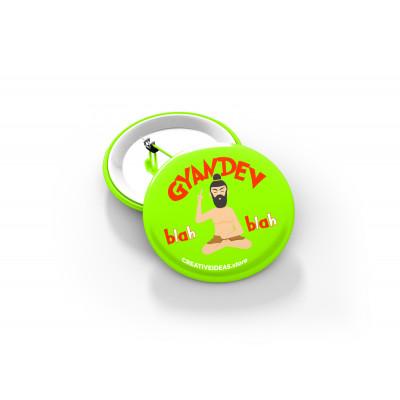 Gyandev Button Badge