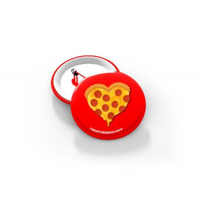 Heart Beat Button Badge