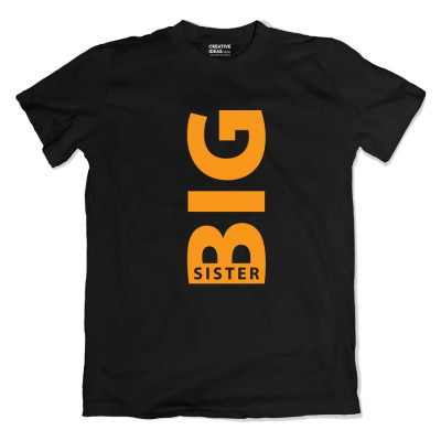 Big Lil Sister Brother Tshirt Black