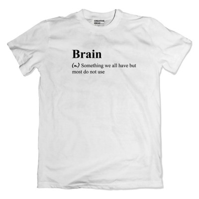 Brain Tshirt White