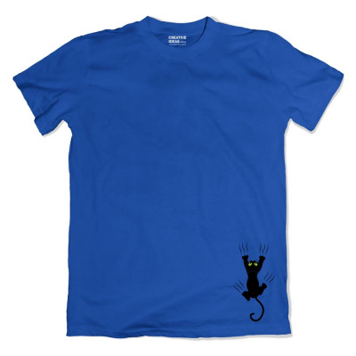 Cat Fall Blue Tshirt