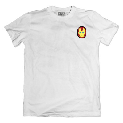 Ironman Mask White Tshirt