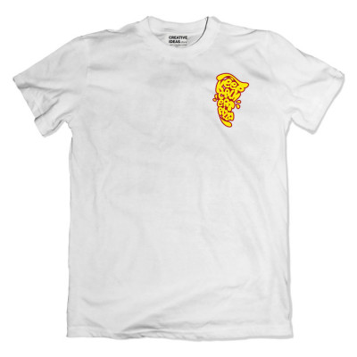 Keep Clam Eat Pizza White Tshirt