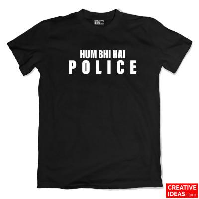 Hum Bhi Hai POLICE Black Tshirt