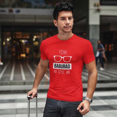 Ye Baburao Ka Style Hai Red TShirt