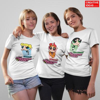 Powerpuff Girls Blossom Buttercup Bubbles Tshirt