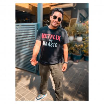 Official Netflix and Naasto Black Tshirt by Viraj Ghelani - Creative Ideas