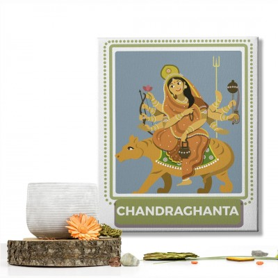Chandraghanta Devi : Navratri Special Mataji Canvas Frame