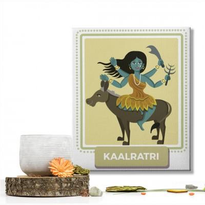 Kaalratri Devi : Navratri Special Mataji Canvas Frame