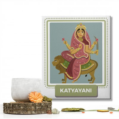 Katyayani Devi : Navratri Special Mataji Canvas Frame
