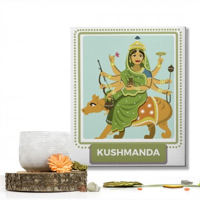 Kushmanda Devi : Navratri Special Mataji Canvas Frame