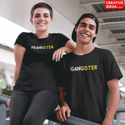 Gangster Prankster Brother and Sister Tshirt
