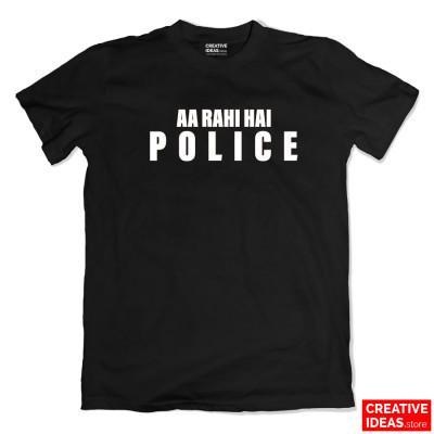 Aa Rahi Hai POLICE Black Tshirt