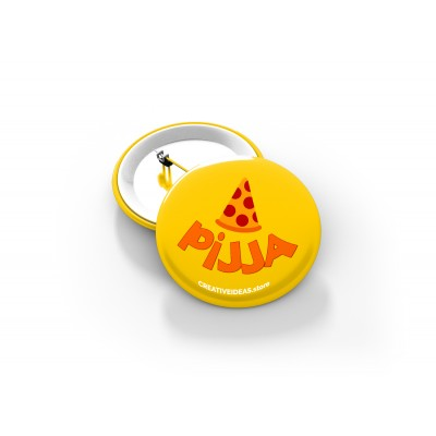 Pijja Button Badge